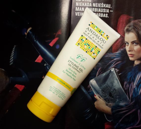 """Apžvalga: """"Andalou Naturals"""" plaukų formavimo gelis"""