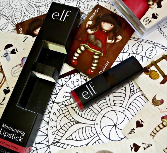 """Apžvalga: """"E.L.F. Cosmetics"""" drėkinantys lūpų dažai. Spalva """"Ravishing Rose"""""""