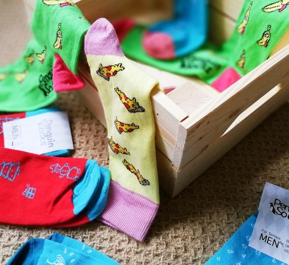 Kaupiam dovanų idėjas: vyriškos spalvotos kojinės iš Penguinsocks.com