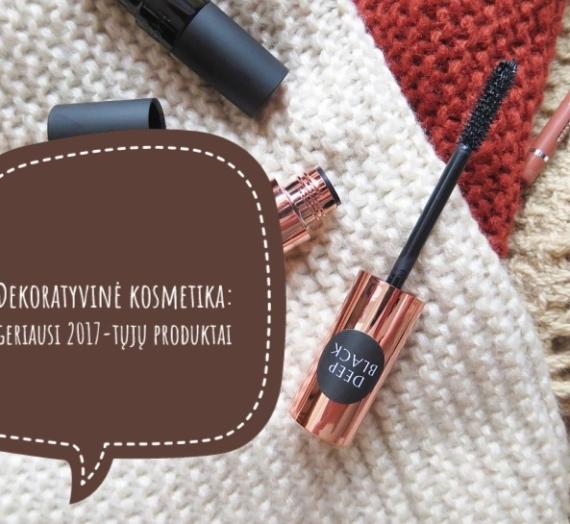 Dekoratyvinė kosmetika: geriausi 2017-tųjų produktai