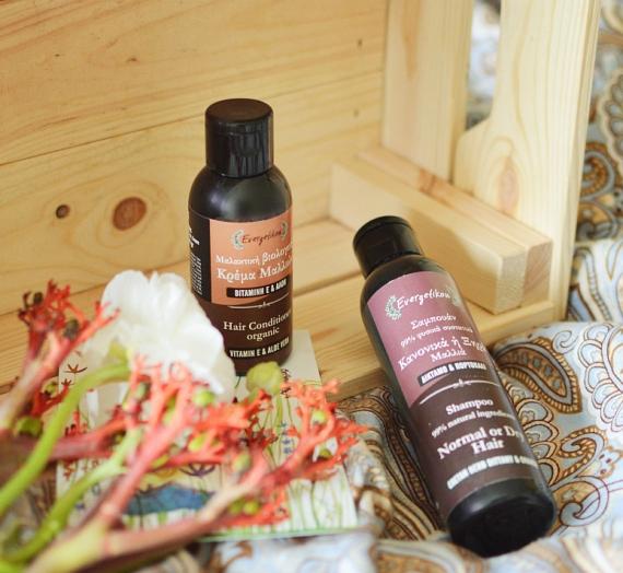 "Apžvalga: ""Evergetikon"" šampūnas ""Cretan herb Dittani & Orange"" bei kondicionierius ""Vitamin E & Aloe Vera"