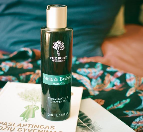 """Apžvalga: """"The Body Wonders"""" augimą skatinantis ajurvedinis plaukų aliejus """"Amla & Brahmi hair oil"""""""