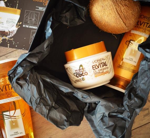 """Apžvalga: """"L'oreal Paris"""" plaukų priežiūros linija """"Elvital Extraordinary Oil Extra-Fine Coconut Oil"""""""