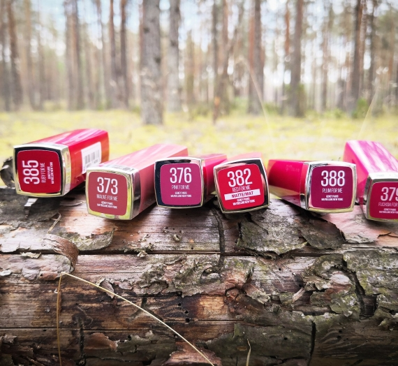 "Apžvalga: ""Maybelline"" lūpų dažai ""Made for all by ColorSensational"""