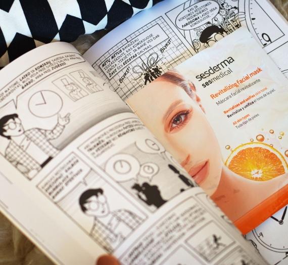 """Apžvalga: """"Sesderma"""" gaivinamoji veido kaukė su vitaminu C"""