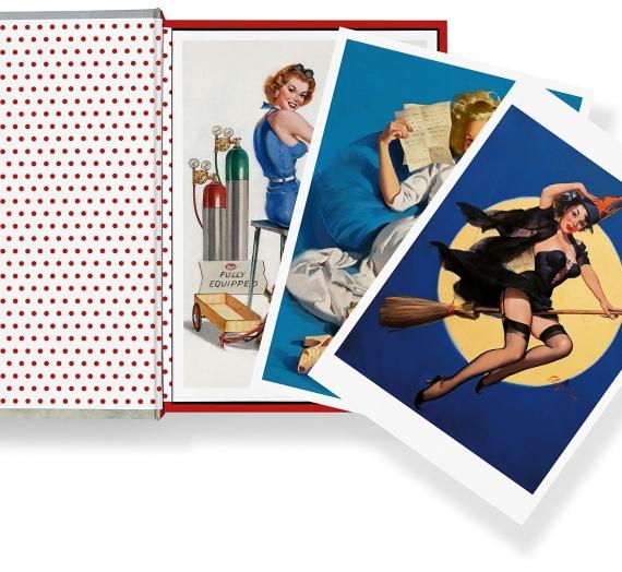 """Apžvalga: ką rasite atvirlaiškių rinkinio """"Pin-Ups 100 postcards"""" dėžutėje"""