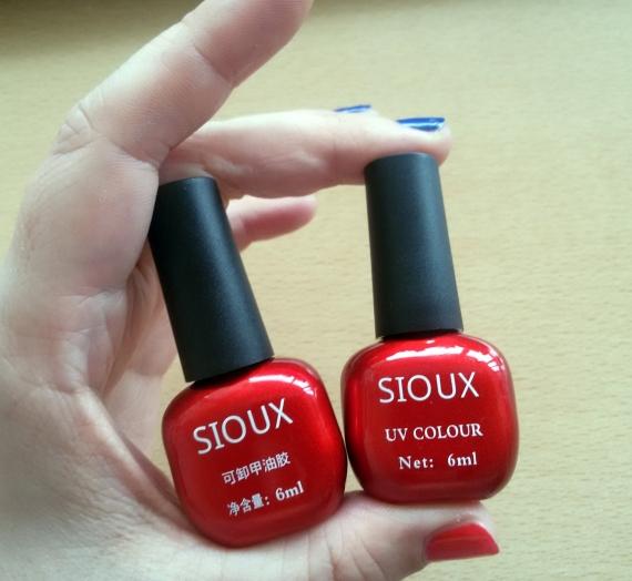 Apžvalga: kiniškas gelinis UV lakas SIOUX. Dvi spalvos