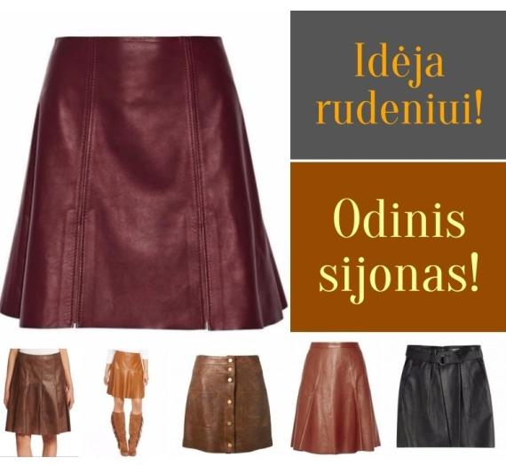 Įkvėpimai: odinis sijonas rudeniui! Noriu!