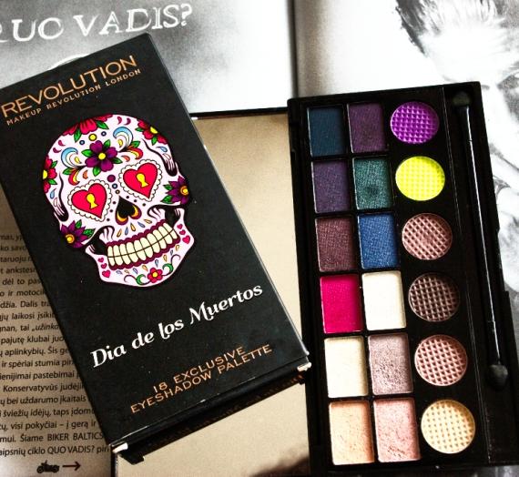 "Apžvalga: ""Makeup Revolution"" šešėlių paletė ""Salvation Dia De Los Muertos"""