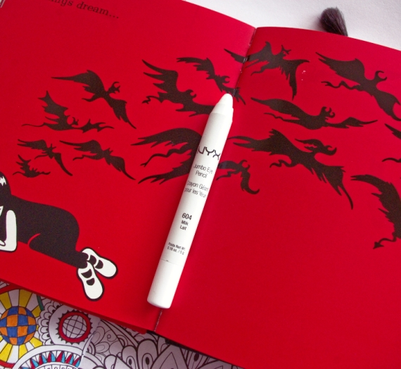 """Apžvalga: NYX akių pieštukas """"Jumbo Pencil"""". 604 Milk Lait spalva"""