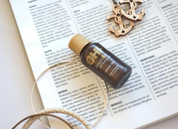 Apžvalga: CHI argano ir moringų aliejų priemonė plaukams