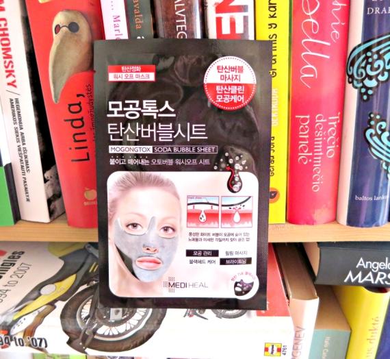 "Įspūdis: MEDIHEAL veido kaukė ""Mogongtox Soda Bubble Sheet"""