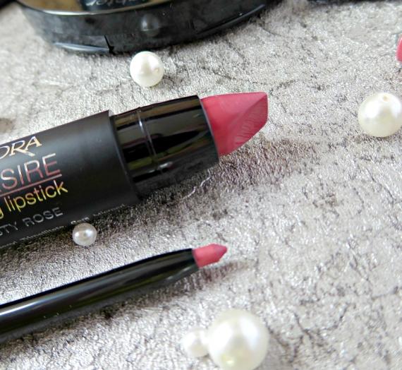"Apžvalga: ""Isadora"" lūpų dažai ir pieštukas ""Lip Desire Sculpting"". Spalva 54 Dusty Rose"