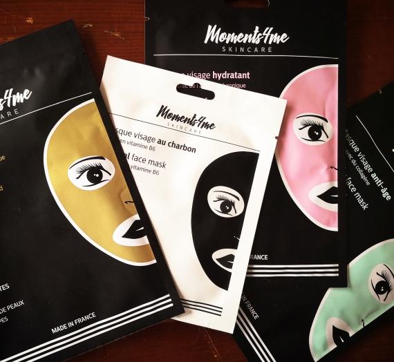 """Apžvalga: keturios lakštinės veido kaukės """"Moments4me"""""""