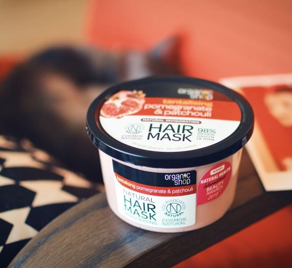 """Apžvalga: """"Organic Shop"""" kaukė plaukams su grantais ir pačiuliais"""